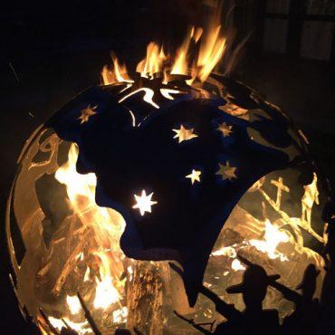Anzac Steel Fireball for Garden