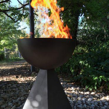 Designer Fire Goblets - Corten Steel Fabrication Australia