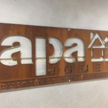 APA Laser Cut Metal Sign