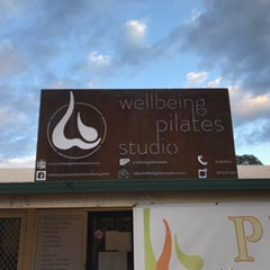 Laser Cut Wellbeing Pilates Studio Metal Sign