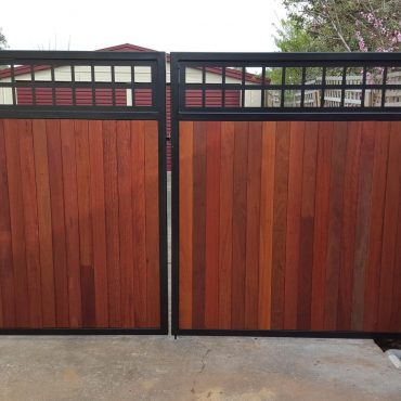 Ornate Laser-cut Metal Wooden Gate