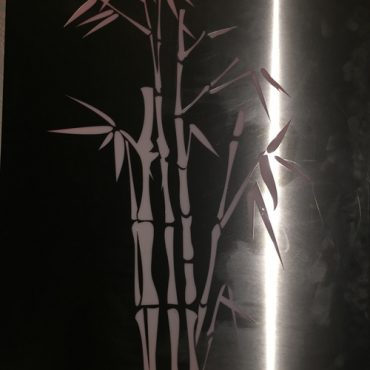 Silver Coloured Bamboo Design - Metal Garden Light Box Australia