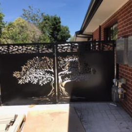 Ornate Laser-cut Gate - Metal Screen